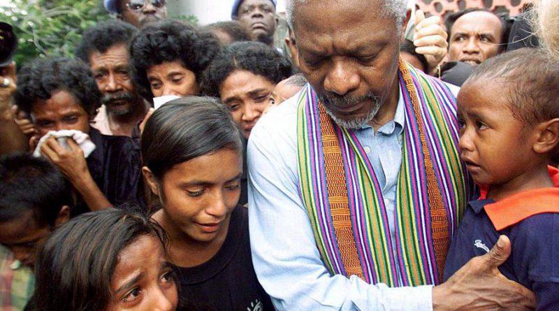 Peace messenger Kofi Annan