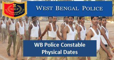 West Bengal Police Constable Exam, Current Jobs in West Bengal,